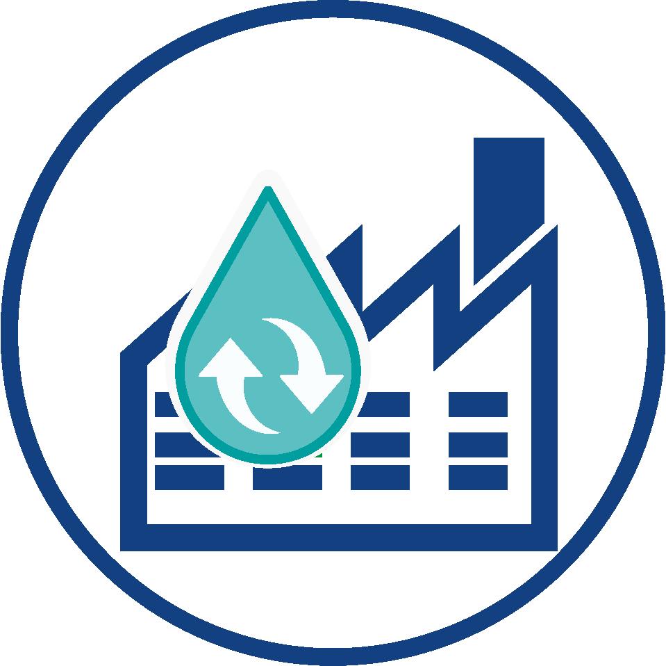 Water circulation into industrial plants